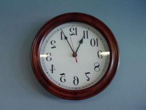 upsidedown clock