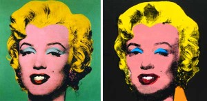 Marilyn Monroe by 1960's pop artist Andy Warhol