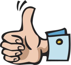 wiggle thumb up